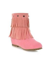 cunha tornozelo de alta botas de franjas das mulheres com rebite decoração (mais cores)