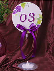 Place Cards and Holders Floral Round Table Number Cards with Holders - Set of 10 (More Colors)