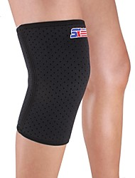Attelle de Genou Appui de sports Protectif Compression Extensible Fitness Noir