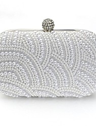 Vizon Women's New Fashion Pearl Beaded Clutch Bag Popular Design Shining Pearl Lady Evening Bag