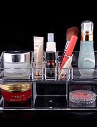 acrílico transparente caixa de armazenamento de cosméticos complexo de dupla camada combinada de cosméticos organizador