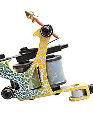 8 Wrap Coils Carbon Steel Liner Shader Beginner Tattoo Machine Gun