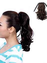 Kanekalon японца ленточных волокон Связанные черный коричневый Средний Волнистые Ponytail