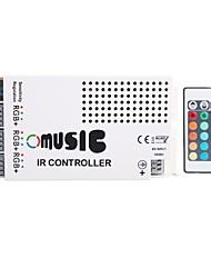 NOVO 3 Canais Max 9A saída inteligente atual ânodo comum IR Remote LED RGB Iluminação Controlador Música (DC12V-24V)
