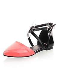 Patent Leather Women's Flat Heel Comfort Sandals with Rhinestone Shoes(More Colors)
