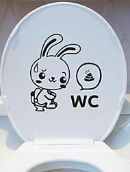 Animais WC Postado Wall Stickers