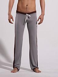 Homens cintura baixa Destaque Yoga Gray & Preto Pants