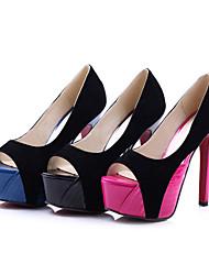 Stiletto Heel Peep Toe Pompes de suède femmes / talons (plus de couleurs)