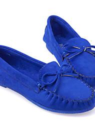 BaBiNiu Frauen Korean Solid Color Bow flache Schuhe (Royal Blue)