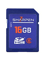 SHARPEN High Speed Flash Memory SD SDHC Card Class 6  16GB  -Blue