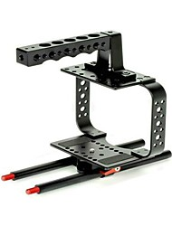 NEW Camera Cage with Top Handle Mounted Points DSLR Camera Cage Fits 15MM Rods for Video Camera 5D II III 7D 60D 550D