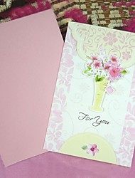 Floral Art Paper Greeting Card