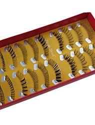 10 paires Pro haute qualité fabriquées à la main Synthetic Fiber Mix cheveux style différent de faux cils