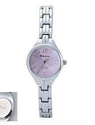 Personalized Gift  Women's  Pink Dial Silver Band  Analog Engraved Watch