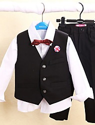 Four Pieces Long Sleeve Ring Bearer Suit Clothing Set(More Colors)