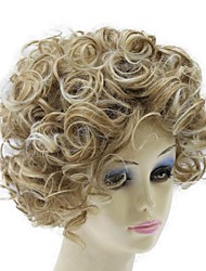 Capless Hight Quailty Short Light Brown Wave Synthetic Hair Wig