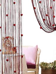"""Romantische Rosen in koreanischer Art Vorhang Line - zufällige Farben (39 """"W x 78"""" L)"""