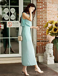 TS- Chiffon  Thigh  High  Split Holiday Beach  Maxi Dress