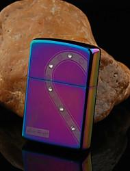 Personalizada del modelo del corazón Grabado petróleo ligero con diamantes de imitación