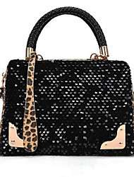 Lady Fashion Leopard Sequins PU Leather Shoulder Bag/Crossbody Bag