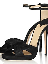 Satin Women's Stiletto Heel Heels Sandals Shoes