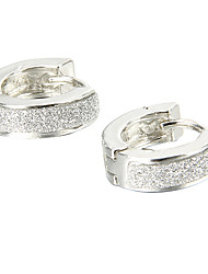 Gift For Boyfriend Fashion Glitter Silver Titanium Steel Stud Earrings (1 Pair)