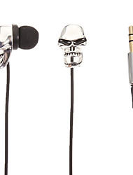 Skull-Shaped (Openmouthed) Stereo In-Ear Headphone(Silver)