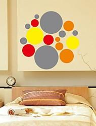 Forme di modo di colore dell'onda Wall Stickers