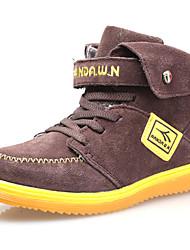 Dw  Kids Velvet High-Top Sneaker Fashion Warm Snow Ankle Boys Boots (Brown)