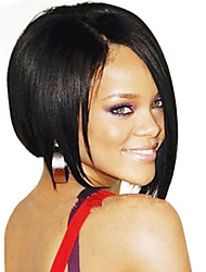 BOB Stort Style Brazilian Human Hair Straight Front Lace Wig