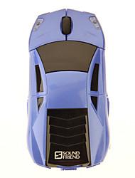 Ton Freund-9198 2.4G Wireless Optical Mouse Super Car mit 2 Batterien Blau