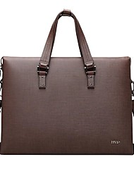 "Mens Fashion Genuine Leather 14"" Laptop Business Tote Messenger Bag"