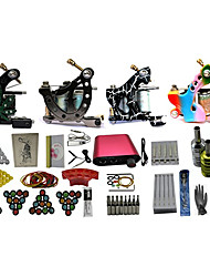 4 Machines Complete Tattoo Kit with Free Gift of 20 Tattoo Inks