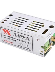 12V 1A 12W Constant Voltage AC/DC Switching Power Supply Converter(110-240V to 12V)