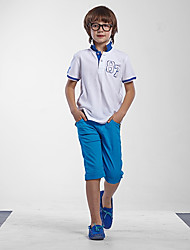 Doolley Boy's Solid Color Casual Short Pants