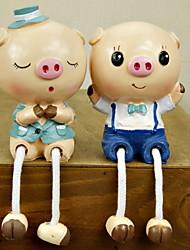 Cerdo encantador decorativo Figurita