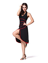Dancewear Women's Cotton Magic Tape Strap Ballroom Latin Dance Dress