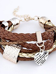 Bracelet/Wrap Bracelets Leather Inspirational Daily Jewelry Gift Coffee