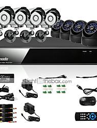 zmodo® 8 l kanaals dvr outdoor CCD 600TVL CCTV surveillance camera systeem