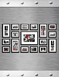Frame Collection Colore Nero Photo Wall Set di 17