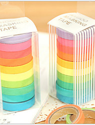 ruban design coloré arc en ciel (10 pcs)