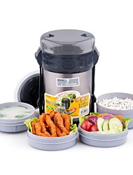 """Four Layers of Insulation Lunch Box,Inner Plastic outer Steel,9.5""""*6"""""""