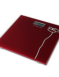 Eletrônica Body Fat Scale Digital Balance peso com plataforma de vidro temperado