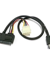 """50 centimetri eSATAp Power eSATA Combo a 22pin SATA & IDE 4pin 5V a 12V per 3.5 """"2.5"""" Hard Disk Cavo dati"""