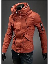 Solid Color Zipper Décoration Jacket