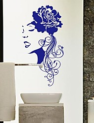 People The Flower Girl Decorative Wall Stickers