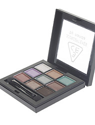 9 Couleur Pearly-lustre Eye Shadow (N ° 4 de couleur)