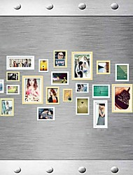 Natural White Mixed Color Photo Frame Collection Set of 20