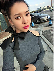1618 Women's Fashion Off The Shoulder Strap Sheath T-Shirt