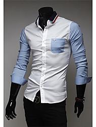 Personnalité de l'Homme Couleur de blocage shirt manches longues